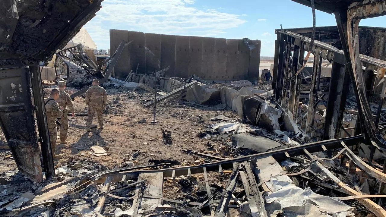 Two drones shot down over a base housing Americans in Iraq