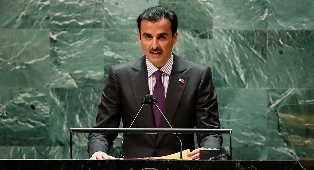 أمير قطر من منبر الامم المتحدة يكشف السبيل الوحيد لإنهاء أزمة اليمن